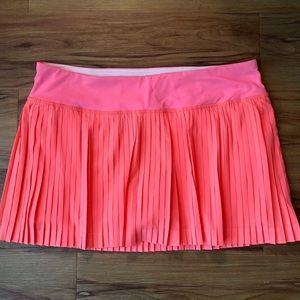 Lululemon Pleat to street skirt neon